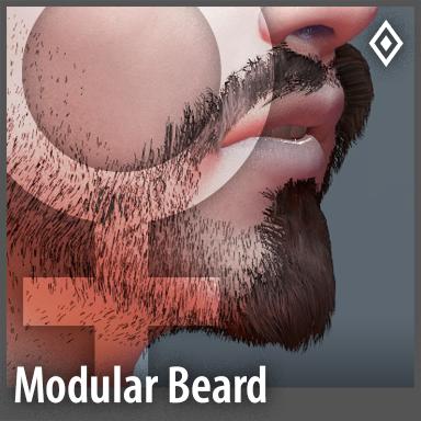[Female] Modular Beard Pack