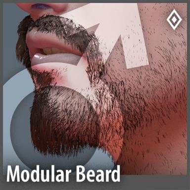 [Male] Modular Beard Pack