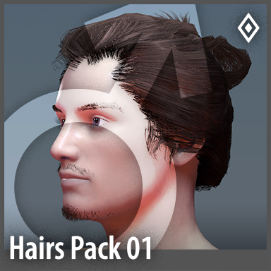 [Male] Hairstyles Pack 01
