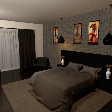 [Environment] Simple Bedroom by bishion