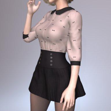 Blouse and Skirt Set 001