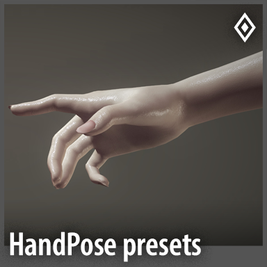 [poses] 55 Presets for the HandPose Plugin