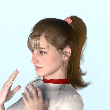 high position ponytail
