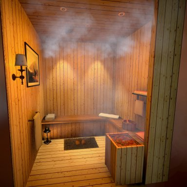 Steam Room & Pinup Poses