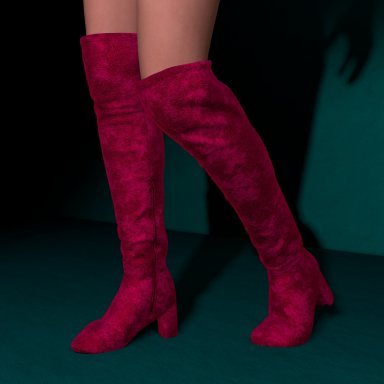 Velvet Boots by Maralyn