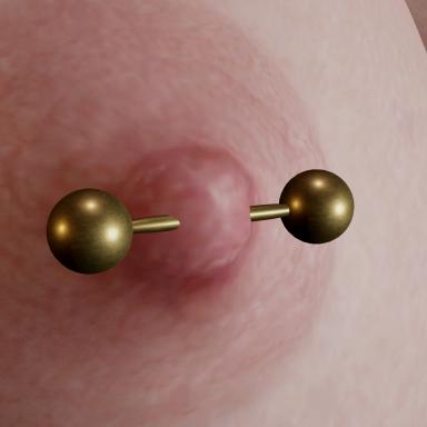 Barbell Nipple Piercings