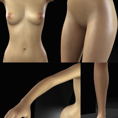 Skin Peach Hair (Moduler&AllBodyParts)