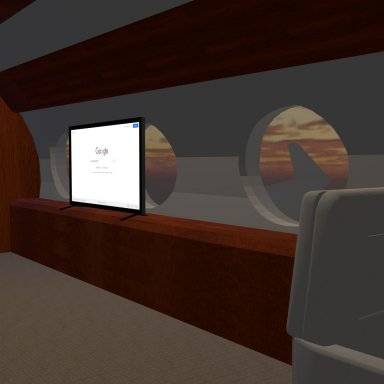 Private Jet with animated REAL Jaccuzzi Release!