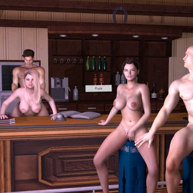 18+ Swingers in the Bar