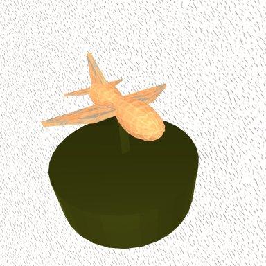 Airplane Peanut Trophy