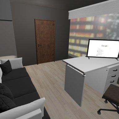 (Night City Skyline Setting) Personal Office
