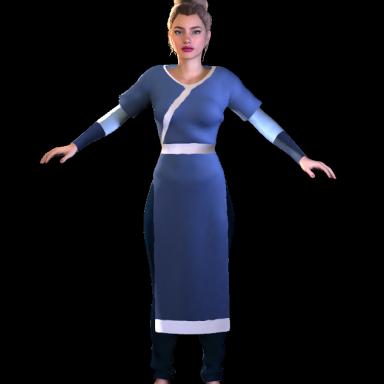 Katara's clothes
