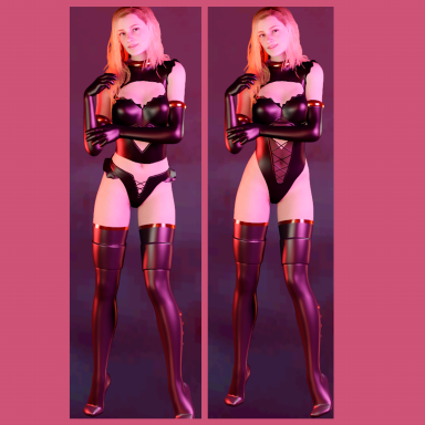 DiVA Leather Suit with 5 items