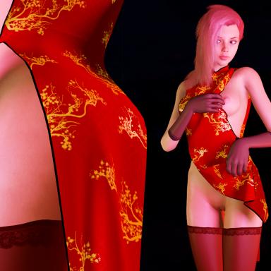 Chinese Set (Dress, Gloves, Stockings)