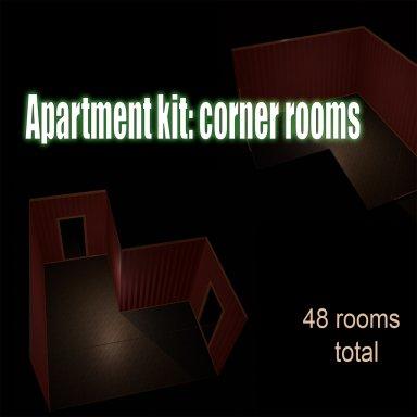 Apartment Kit: corner rooms + columns