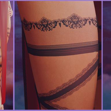 Lace Leg Wraps