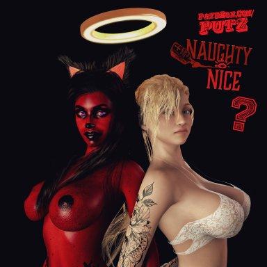 FREE DL | Naughty or Nice? +2 Models +3 Scenes! Gabby Nice & Hateme Naughty
