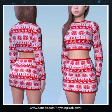 Christmas Jumper with matching Skirt