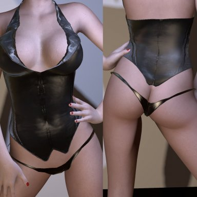 Latex corset panties