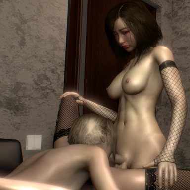Futa pussy-to-mouth, female pov & futa pov animations