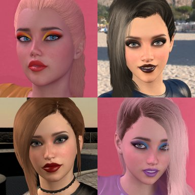 Female Makeup Texture Pack 1