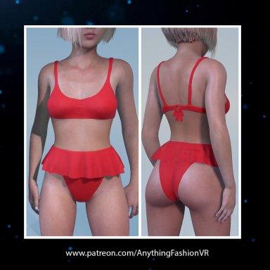 Three piece bikini set with presets