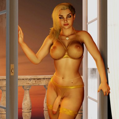 Gold Lingerie Set Futa