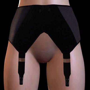 High waist garter belt