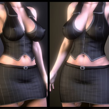 Office vest+skirt for Futa