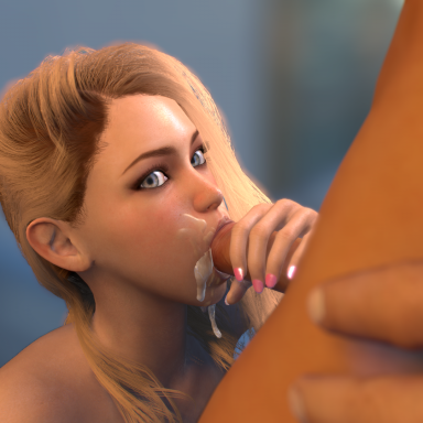Blonde Blowjob VR