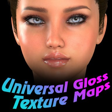 Universal Gloss Texture Maps for Female figures