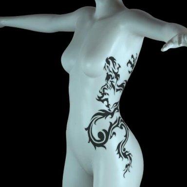 [NHNL] T007 : Wearable Tattoo for Left Torso 2