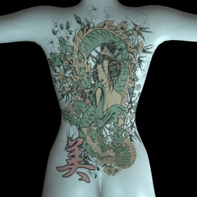 [NHNL] T018 : Wearable Tattoo for Back Torso