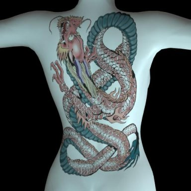 [NHNL] T019 : Wearable Tattoo for Back Torso 2