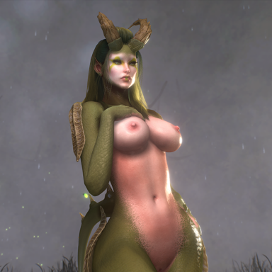 This is Rawda – The Lizard-Kin Monster Girl.