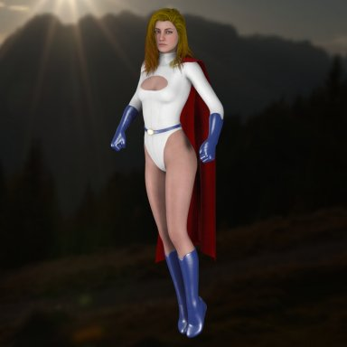 Power Girl Full Outfit