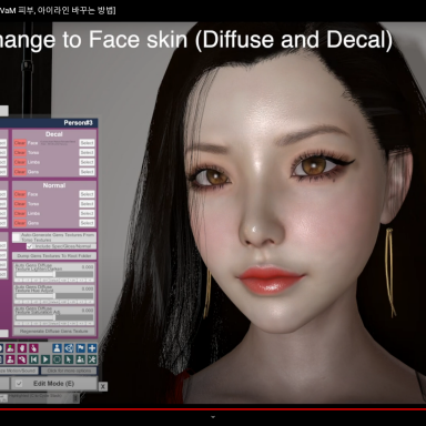 How to change the face skins and eyelines (For Newbie)