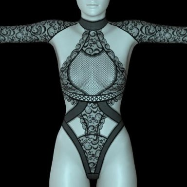 [NHNL] W007 : Lace Bodysuit 4