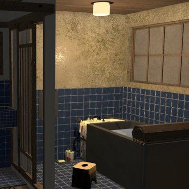 Japanese old bathroom