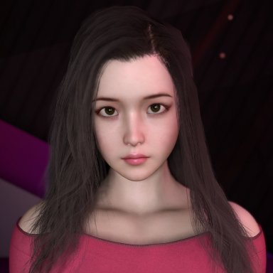 Realistic style girl, Lan Lan,