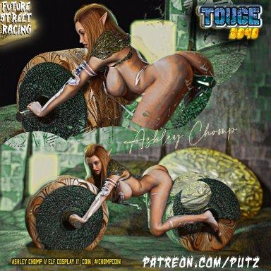 TOUGE 2048 Racing Girl Ashley Chomp as Cosplay Elf