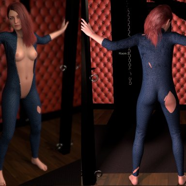 Superheroine Bodysuit Clean/Torn (*Paid Clothing)