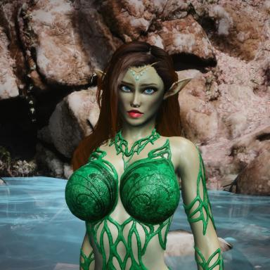 Ariella the wood nymph + custom location.