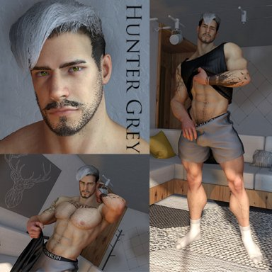 [Male] Look - Hunter Grey