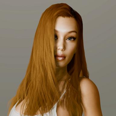 Crazy3dmodeler Red Hair model