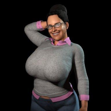 Sweater and Shirt (layered)