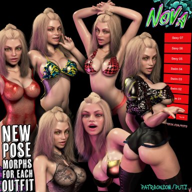 EX. DL | Nova 24yr Swimsuit Model with Pose Morphs for each Outfit