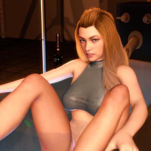 Laine Takes a Dip 2